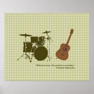 """tambor y """"violão"""" para las paredes impresiones"""