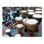 Tambores 1 del africano tarjeta postal