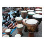 Tambores 1 del africano tarjetas postales