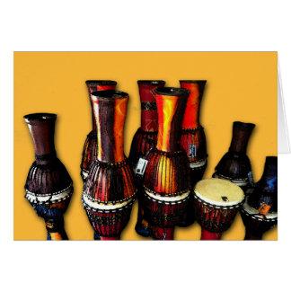 Tambores africanos tarjeta de felicitación