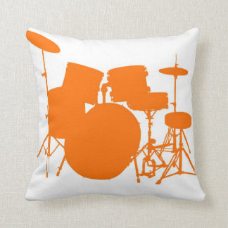 Tambores anaranjados almohada