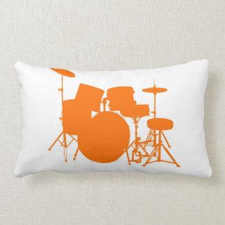 Tambores anaranjados almohadas
