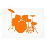 Tambores anaranjados invitaciones personalizada