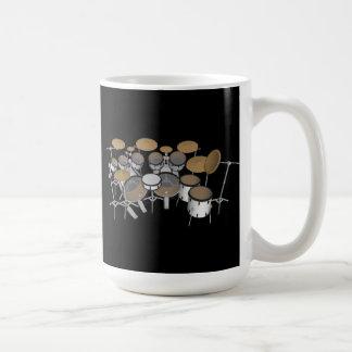 Tambores: Batería blanca: modelo 3D: Taza de café