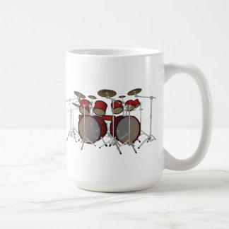 Tambores: Batería roja: modelo 3D: Taza De Café