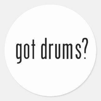 ¿tambores conseguidos etiquetas
