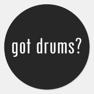 ¿tambores conseguidos pegatinas