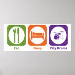 Tambores de Eat Sleep Play Impresiones