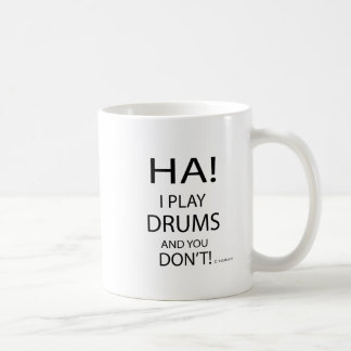 Tambores de la ha taza de café