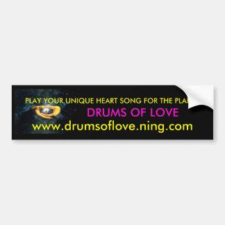 tambores del amor pegatina de parachoque