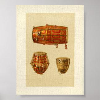 Tambores indios póster