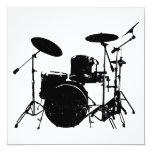 """tambores invitación 5.25"""" x 5.25"""""""