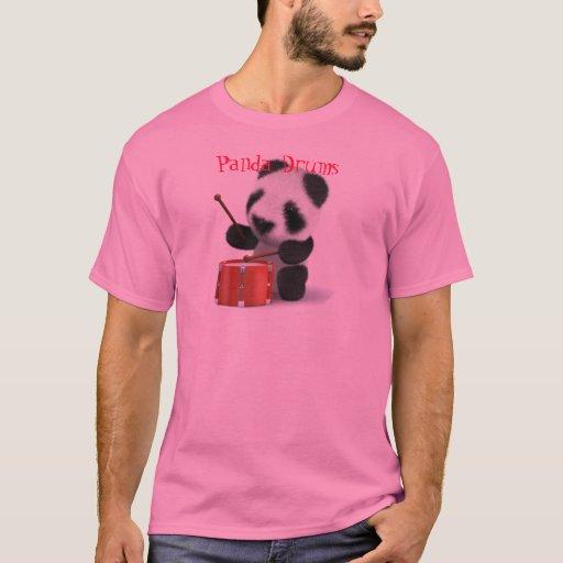 Tambores lindos de la panda playera