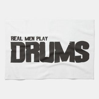 Tambores reales del juego de los hombres toallas de cocina