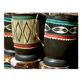 Tambores tallados mano, Livingston, Zambia Postal