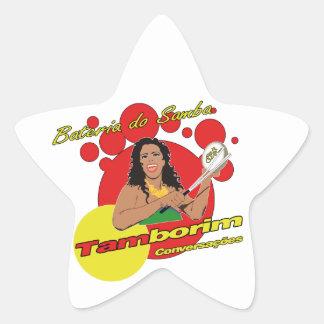 Tamborim Batucada de Samba Pegatina En Forma De Estrella