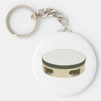 Tambourine112109 Basic Round Button Keychain