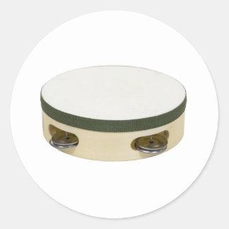 Tambourine112109 Classic Round Sticker