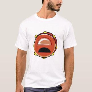 Tambourine Brown Graphic Musicial Instrument T-Shirt