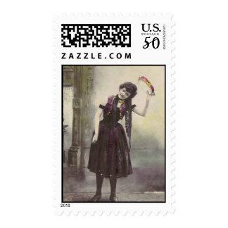 tambourine girl stamp