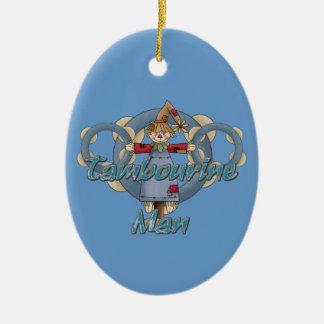 Tambourine Man Ceramic Ornament