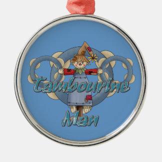 Tambourine Man Metal Ornament