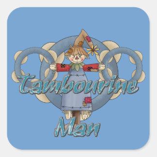 Tambourine Man Square Sticker