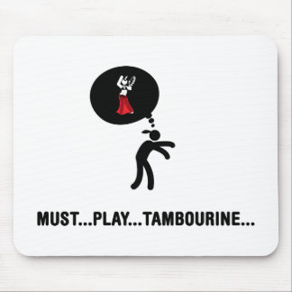 Tambourine Player Mouse Pad