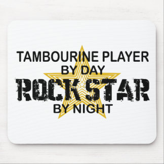 Tambourine Rock Star by Night Mouse Pad