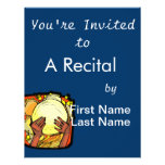 Tambourine Two Brown Hands Playing Graphic Personalized Invitations