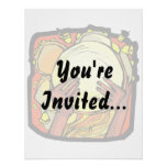 Tambourine Two Brown Hands Playing Graphic Invite