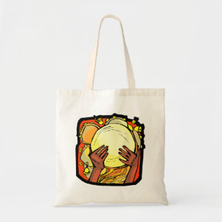 Tambourine Two Brown Hands Playing Graphic Tote Bag