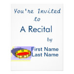 Tambourine , Yellow, Upside Down with blue back Invite