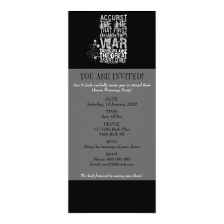 Tamburlaine War Quote (B&W) Card