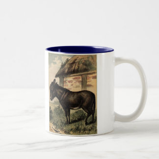 Tame Animals Donkey Two-Tone Coffee Mug