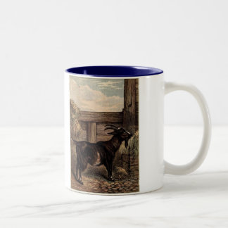 Tame Animals Goat Two-Tone Coffee Mug