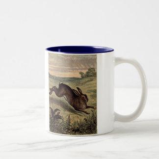 Tame Animals Rabbit Two-Tone Coffee Mug