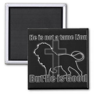 Tame Lion 2 Inch Square Magnet