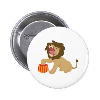 Tame Lion 2 Inch Round Button
