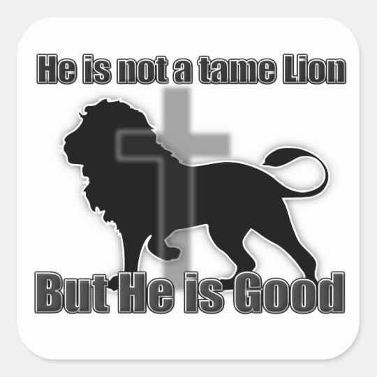Tame Lion Square Sticker