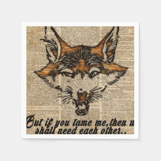 Tame Me - Dictionary Art Paper Napkin