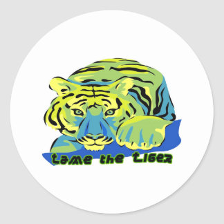 Tame the Tiger2 Round Stickers