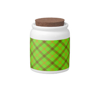 Tami Kaye Plaid Candy Jar