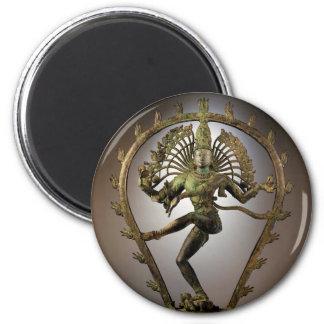 Tamil de Shiva de la deidad hindú el transformador Imán Redondo 5 Cm