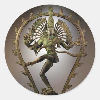 Tamil de Shiva de la deidad hindú el transformador Pegatina Redonda