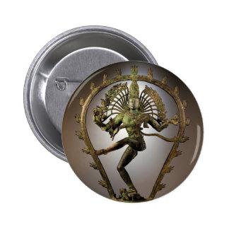Tamil de Shiva de la deidad hindú el transformador Pin Redondo 5 Cm