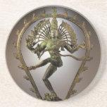 Tamil de Shiva de la deidad hindú el transformador Posavasos Diseño