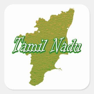 Tamil Nadu Square Sticker