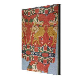 Taming of the Wild Animal, Byzantine tapestry frag Canvas Print