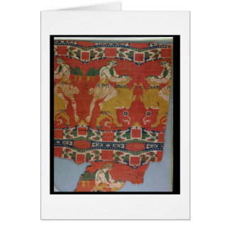 Taming of the Wild Animal, Byzantine tapestry frag Card